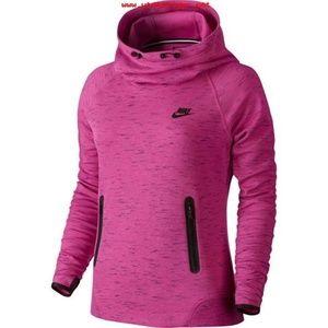 Nike Tech Fleece Hoodie pink heather sweatshirt
